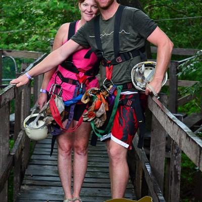 Ziplining Bridge Hacienda Guachipelin Costa Rica Adventure Getaway 131