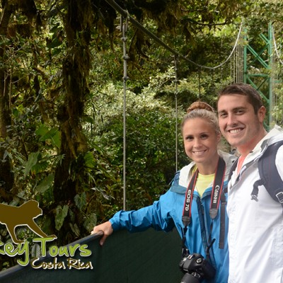 Couple in Monteverde Sky Walk Cloud Forest Costa Rica Escorted Getaway 130