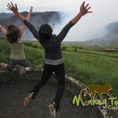 Jumping at Masaya Volcano National Park Costa Rica and Nicaragua Trip 73