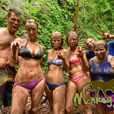 Mud Bath Hacienda Guachipelin Costa Rica Guided Trip 134