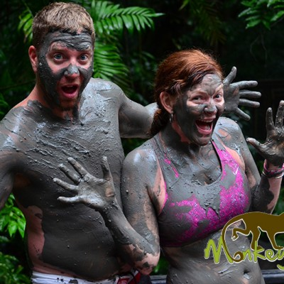 Couple Enjoying Mud Bath Hacienda Guachipelin Costa Rica Adventure Trip 131
