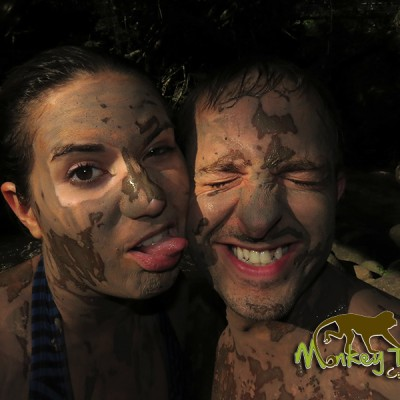 Mud Bath Fun Hacienda Guachipelin Costa Rica Adventure Tour 129
