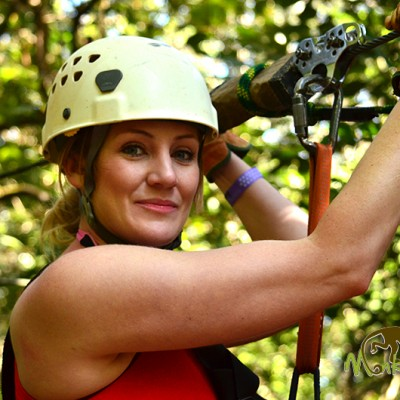 Woman On Zipline Canopy Adventure Costa Rica Getaway 138