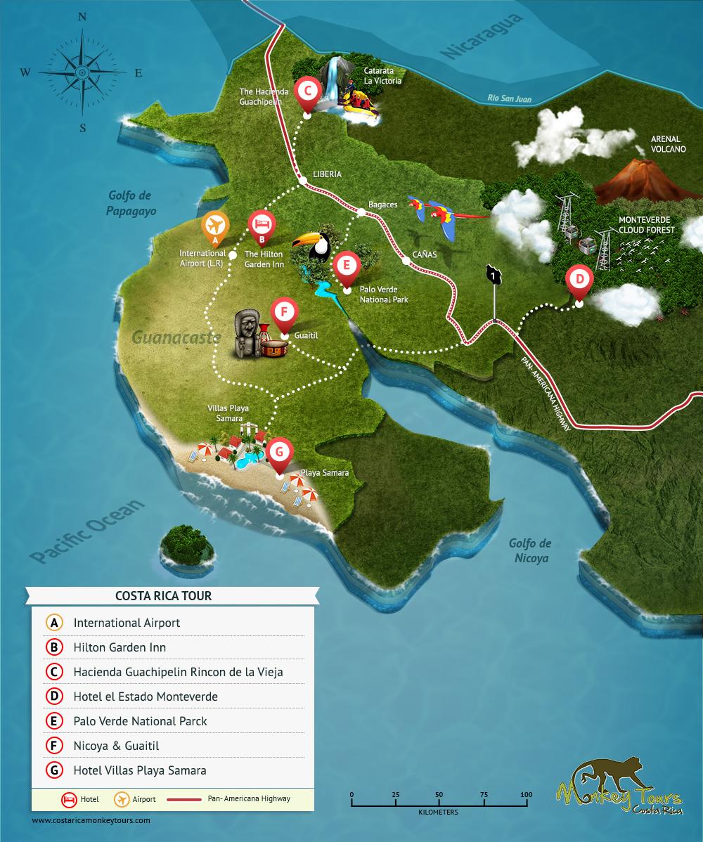The Province of Guanacaste in Costa Rica